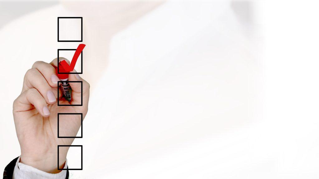 Umfrage, Checkliste