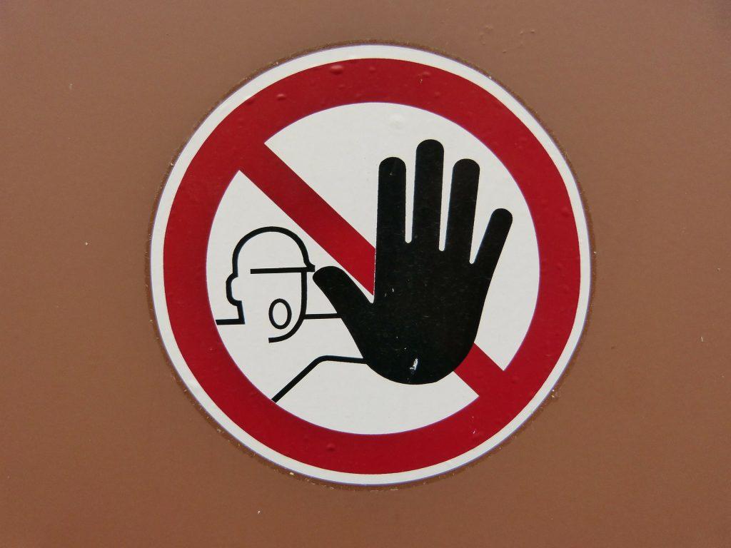 Warnungschild - Lizenz des Bildes: CC0
