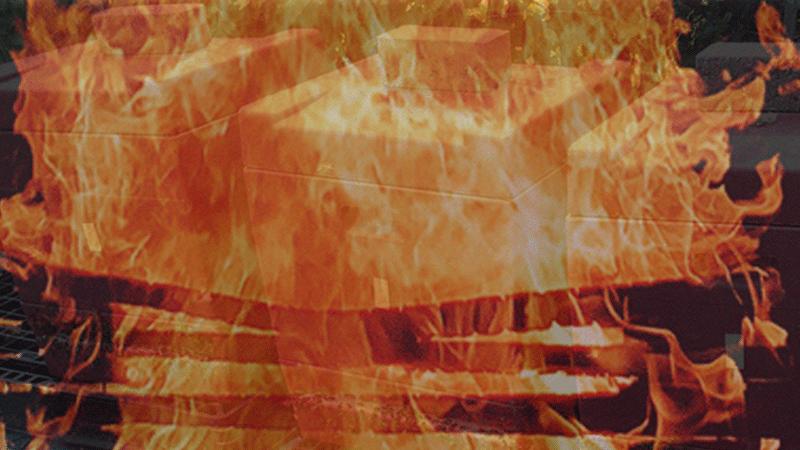 Brandgefahr bei Teelichtern in der Beute