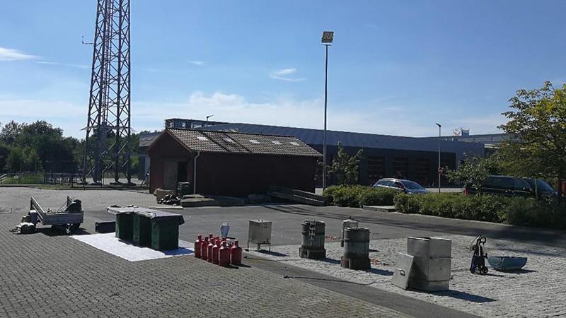 Das Gelände der Feuerwehrzentrale des Kreises Pinneberg eignete sich hervorragend für die Sanierungsaktion